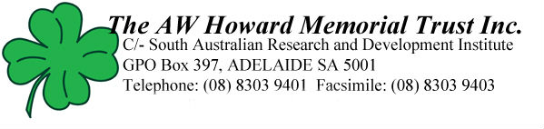 C-/ South Australian Research and Development Institute GPO Box 397, Adelaide SA 5001 Telephone:08 83039401 Facsimile:08 8303 9403
