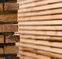 Stacked timber closeup photo